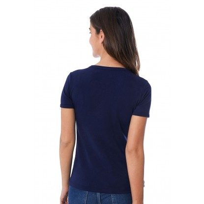 T-SHIRT FEMME MANCHE COURTE COL ROND BLEU ROI - Made in France & 100% Recyclé