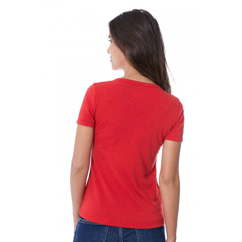 2e6ab2a763f6c Propre Shirt Rouge Tee T Femme In Recyclé Franceamp; Le Made 2I9YWEDH.