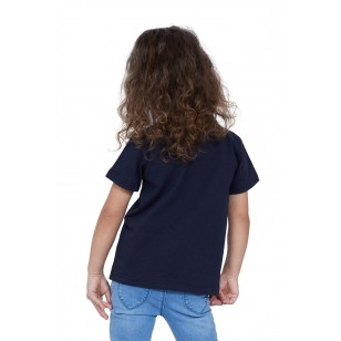 T-SHIRT ENFANT MANCHE COURTE COL ROND BLEU - Made in France & Coton bio