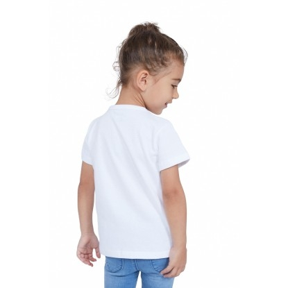T-SHIRT ENFANT MANCHE COURTE COL ROND BLANC - Made in France & Coton bio