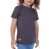 T-SHIRT ENFANT MANCHE COURTE COL ROND GRIS - Made in France & Coton bio