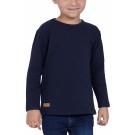 T-SHIRT ENFANT MANCHES LONGUES COL ROND BLEU - Made in France & Coton bio