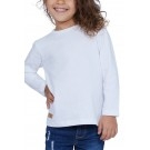 T-SHIRT ENFANT MANCHES LONGUES COL ROND BLANC - Made in France & Coton bio