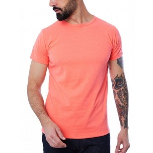 T-SHIRT HOMME MANCHE COURTE COL ROND CORAIL - Made in France & 100% Recyclé