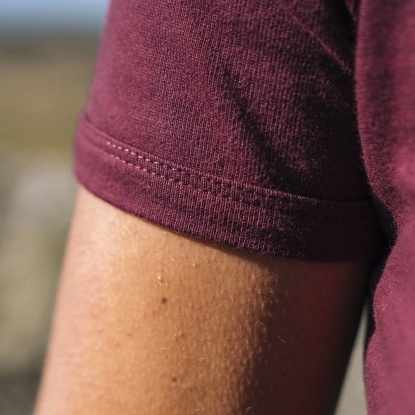 T-SHIRT HOMME COL V VERT KAKI UNI - Made in France & Coton Bio