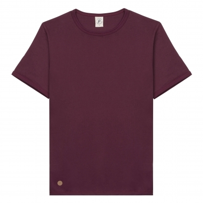 T-SHIRT HOMME COL V BEIGE CHINÉ UNI - Made in France & Coton Bio