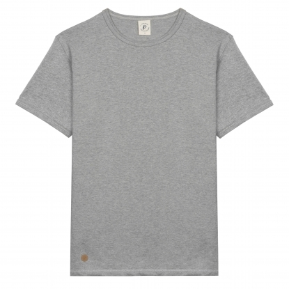 T-SHIRT HOMME COL V TERRACOTTA UNI - Made in France & Coton Bio