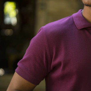 POLO HOMME BORDEAUX - Made...