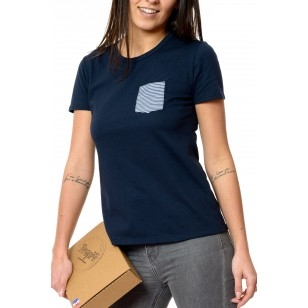 T-SHIRT FEMME MARINIÈRE BLEU - Made in France & Coton Bio