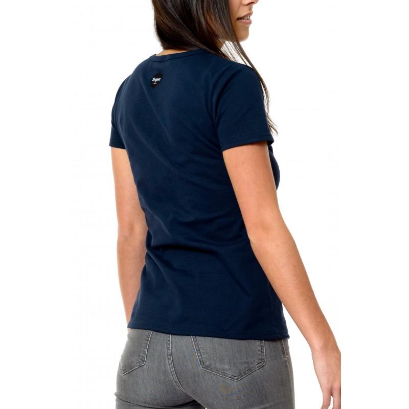 tee shirt femme marini re made in france bio le t. Black Bedroom Furniture Sets. Home Design Ideas