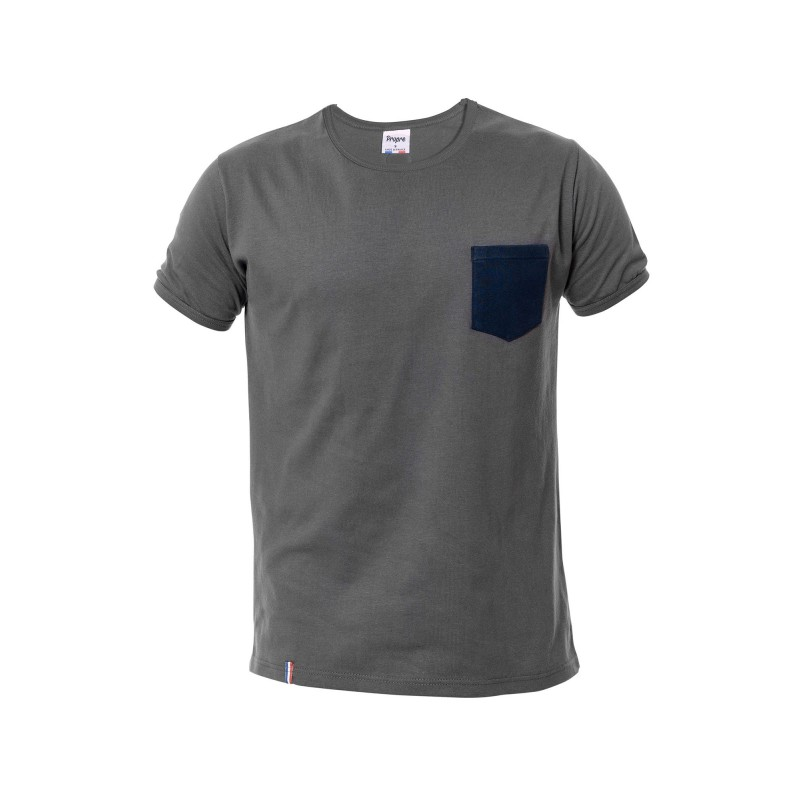 tee shirt homme gris made in france bio le t shirt. Black Bedroom Furniture Sets. Home Design Ideas