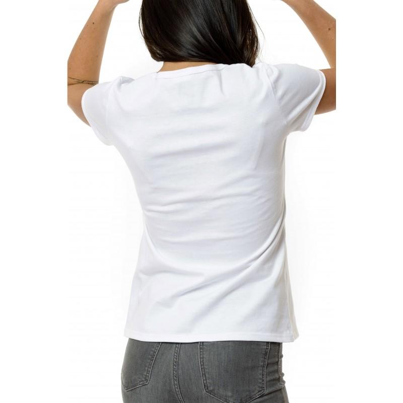 tee shirt femme uni blanc 100 made in france 100. Black Bedroom Furniture Sets. Home Design Ideas
