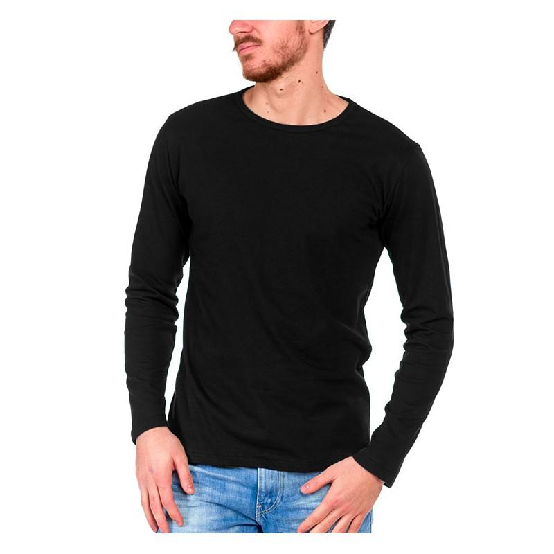 tshirt manche longue noir made in france bio le t shirt propre. Black Bedroom Furniture Sets. Home Design Ideas