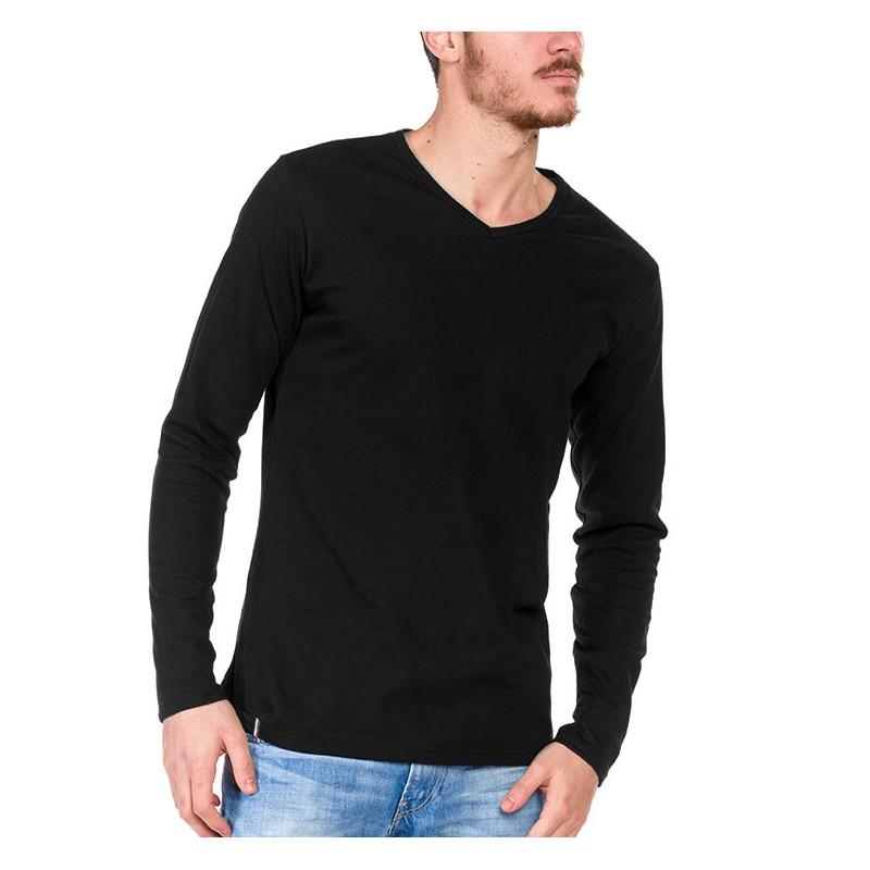 tshirt manche longue noir made in france bio le t. Black Bedroom Furniture Sets. Home Design Ideas
