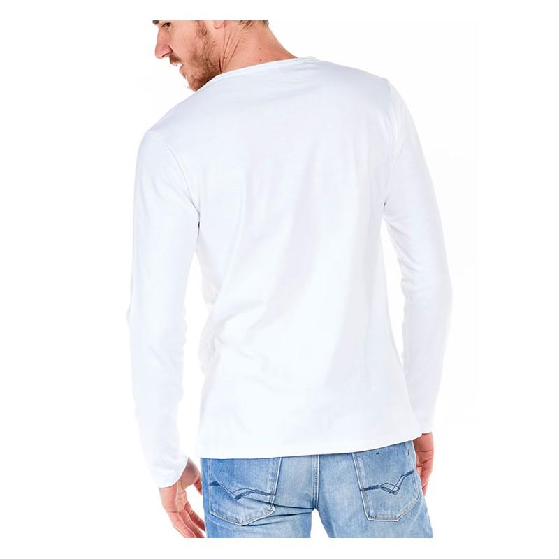 tshirt manche longue blanc made in france bio le t. Black Bedroom Furniture Sets. Home Design Ideas