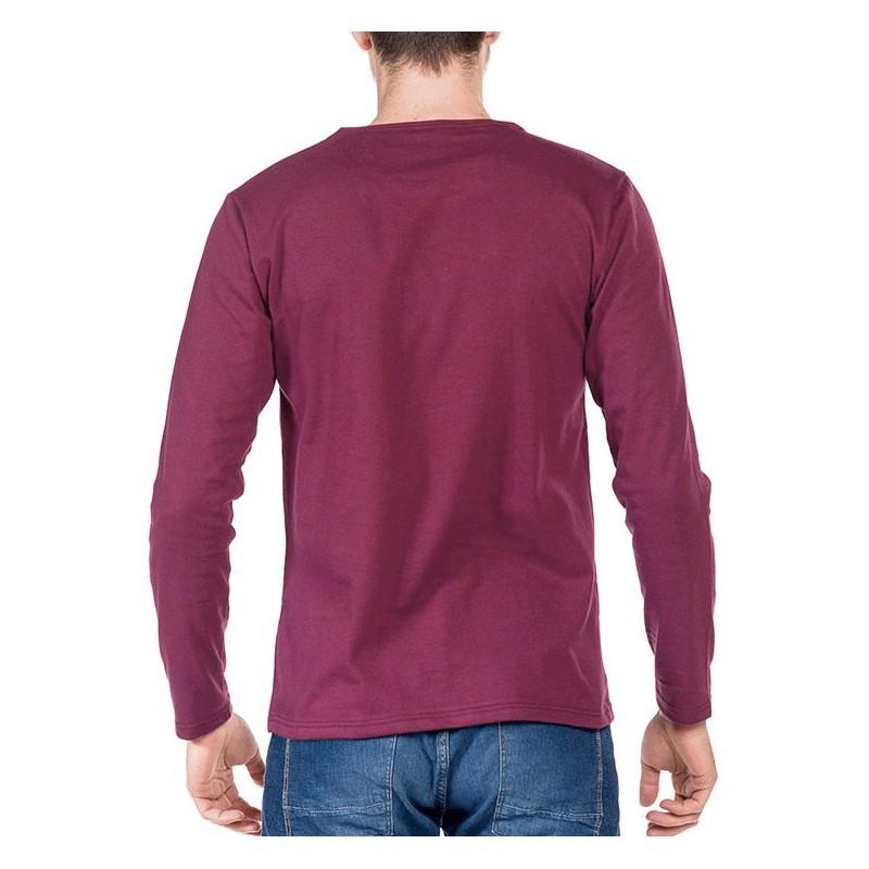 tshirt manche longue bordeaux made in france bio le t. Black Bedroom Furniture Sets. Home Design Ideas