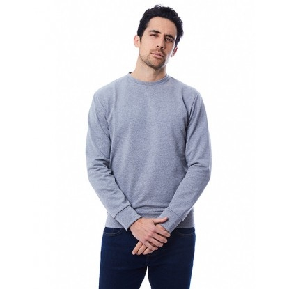 SWEAT HOMME GRIS UNI - 100% recyclé & Made in France