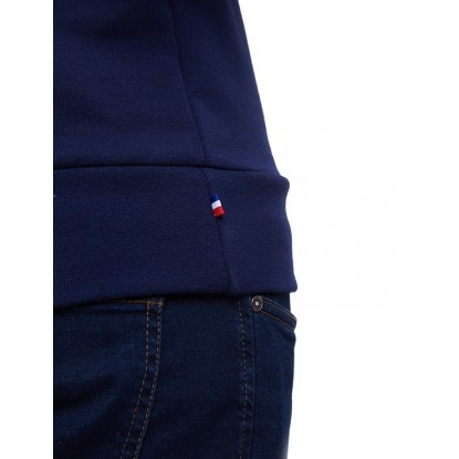 SWEAT HOMME BLEU UNI - 100% recyclé & Made in France